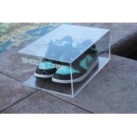 Buy cheap top grade acrylic shoe storage box/plastic shoe box from Wholesalers