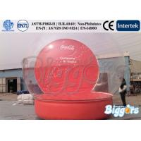 Buy cheap Transparent PVC Inflatable Advertising Snow Globe With Custom Logo from Wholesalers
