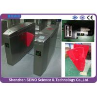 Buy cheap Pedestrian Access Control Software Friendly Flap Gate Turnstile Barrier from Wholesalers