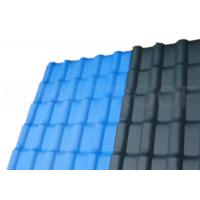 Buy cheap Balcony Top Cover ASA Synthetic Resin Plastic Roof Tile In Dark Blue / Villa Roofing from Wholesalers