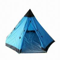 Buy cheap Tipi tent/teepee tent/Indian tent/camping tent for 4 persons/bell tent, made of PE floor  from Wholesalers