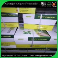 Buy cheap 210 x 297mm original grade A a4 copy paper legal size paper 80gsm from Wholesalers
