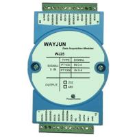 Buy cheap wayjun WJ25 series 5 channels RTD Temperature Signal to RS485/232 temperature signal acquisition 24bits blue from Wholesalers