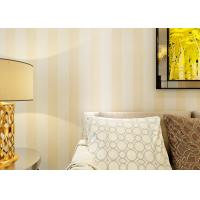 Buy cheap Eco - friendly Vinyl Stripes Modern Removable Wallpaper for Living Room from wholesalers