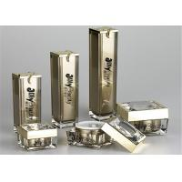 Quality Press the gold with the gold pump over the rim Empty Makeup Containers for sale
