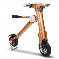 Quality Brown Foldable Electric Scooter 3.5h Charging Time Folding E Bike with Bluetooth wholesale