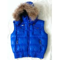 Buy cheap Blue Duck Feather Down Jackets Kids Down Jacket Vest With Rabbit Fur from Wholesalers