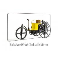 Buy cheap Rickshaw Wheel Clock with Mirror analog clock in retro style and Wheel with Gear rotation from Wholesalers