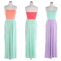 Buy cheap Long Strapless Casual Womens Dresses In Rayon For Girls , Juniors from Wholesalers
