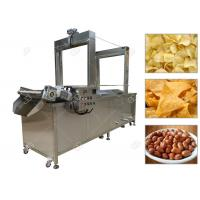 China Automated Snacks Frying Machine , Continuous Corn Chips Conveyor Fryer Machine on sale