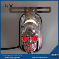 Buy cheap Motorcycle LED Tail Light Skull Head Taillight Red Light Color Black and Chrome Cover for Option from wholesalers