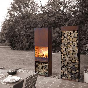 Buy cheap Yard / Garden Cast Iron Fire Pot , Corten Steel Fire Pit Wood Burning Fireplace from wholesalers