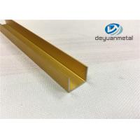 Quality Polishing Aluminium Square Floor Strip U Profile Aluminum Trim 6063-T5 wholesale