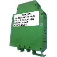 Buy cheap WAYJUN 3000V isolation Frequency to Current/Voltage Isolated Transmitter DIN35 signal converter green from wholesalers