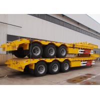 China CIMC 3 axle low bed platform trailer 2 axles low bed trailer for 30-90ton heavy duty machine transportation on sale