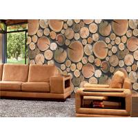 Buy cheap Annual ring 3d home PVC removable reusable wallpaper for study room from wholesalers