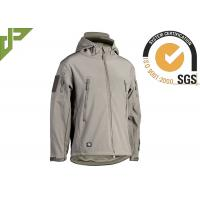 China Polyester Green Military Tactical Jackets With Armhole / Hat For Mountaineering on sale