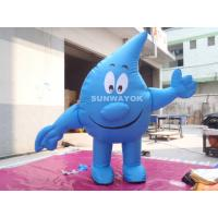 Quality Water Drop Advertising Costumes , Light Weight inflatable mascot suit wholesale