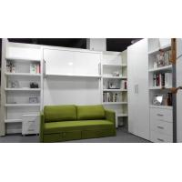 King Queen Size Sofa Fold Up Murphy Wall Bed Hidden Wall Bed For Guest Room With Bookshelf