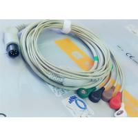 Buy cheap M&B 6 Pin Snap AHA ECG Patient Cable For Medical Equipment , Electrode Lead Wires from Wholesalers