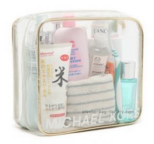 Custom girls make up kits EVA / PVC Clear cosmetic bag , 0.2-0.5mm