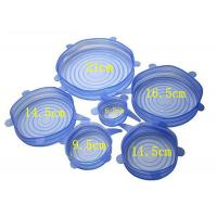 China 6 Pieces Silicone Lid Covers , Reusable Silicone Stretch Lids For Stove / Freezer  on sale