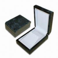 Buy cheap Wooden Jewelry Box with PU Leather Inside and Outside with Glossy Paint from Wholesalers