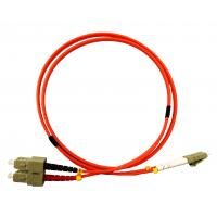 Buy cheap Multimode Fiber Optic Patch Cables 1m LC UPC to SC UPC Duplex 3.0mm LSZH OM1 from wholesalers