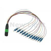 Buy cheap Data Communication Network MPO / MTP TO LC Cable / 12 Core Fiber Optic Cable from wholesalers
