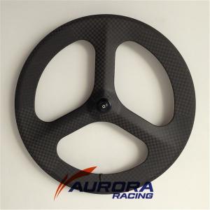 carbon tri-spokes clincher rear wheel,3 spoke bike wheels,fixed gear carbon spoke wheels