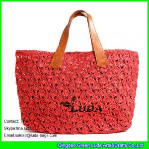 Buy cheap LUDA red handbags wholesale raffia bags crochet straw beach handbags from Wholesalers