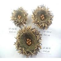 Buy cheap handmade bird's nest and eggs,Easter decoration,easter gifts,easter ornament,garden decoration,holiday decorations from Wholesalers