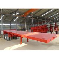 Buy cheap 40ft Container Transport Semi Flatbed/Skeleton Container Trailer With Container Locks from wholesalers