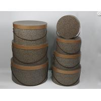Buy cheap Solid Large Cardboard Round Gift Boxes With Lids High Class Fabric Rope from Wholesalers