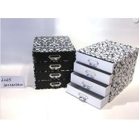 Buy cheap Four Layer Stationery Storage Drawer Gift Box Glossy Lamination With Metal Handles from Wholesalers