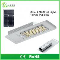 Quality IP66 Solar Energy Street LED Lights 60 W with 10 Years Warranty , TUV CE RoHS wholesale