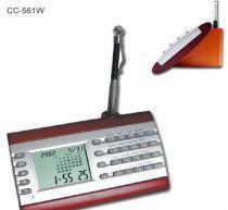 Buy cheap Desktop Digital Calendar Clcok w/ Calculator On Wood Base from wholesalers