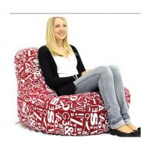 Buy cheap Foam Bean Bag Chairs For Kids , Red Huge Lazy Sofa Chairs In Living Room from Wholesalers