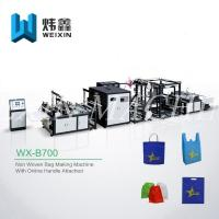 Buy cheap Full Automatic Non Woven Box Bag Making Machine With Online Handle Attach from Wholesalers