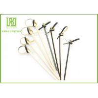Buy cheap Disposable Small Shish Kebab Sticks , Customized Bamboo Barbecue Sticks 105mm from Wholesalers
