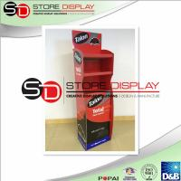 Buy cheap 3 Shelves Cardboard Retail Displays Reusable Environmental Protection from Wholesalers