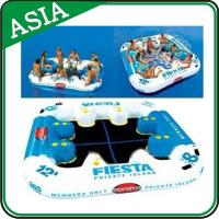 Quality Party Floating Inflatable Island Lounge For Beach Vacation , Inflatable Island wholesale