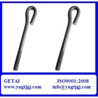 Buy cheap Galvanized Carbon Steel L & J M12 Hook Bolt and Nut from Wholesalers