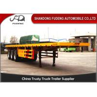 Buy cheap 40 Ft Flatbed Container Semi Truck Trailer BPW Axles Air Suspension from Wholesalers