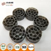Buy cheap PE06 Balck Color MBBR Filter Media Virgin HDPE Material For 25*12mm Size from wholesalers