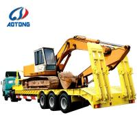 Buy cheap 2 axles 3 axles Lowbed trailer for crawler machinery and bulk heavy equipment from Wholesalers