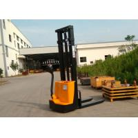 Quality 1200kg Narrow Width Walking Operating Electric Lift Pallet Stacker With Polyurethane Wheel for sale