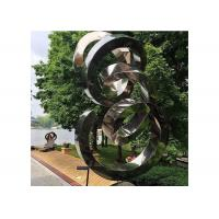 Buy cheap Spiral Contemporary Garden Decoration Stainless Steel Mirror Sculpture from Wholesalers