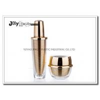 Buy cheap 60 ML Capacity Plastic Lotion Jars With Bottle Inside Gold Plating Outside Transparent from Wholesalers