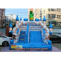 Buy cheap Flame Resistant Giant Commercial Inflatable Slide / Inflatable Bouncers With Slide from wholesalers